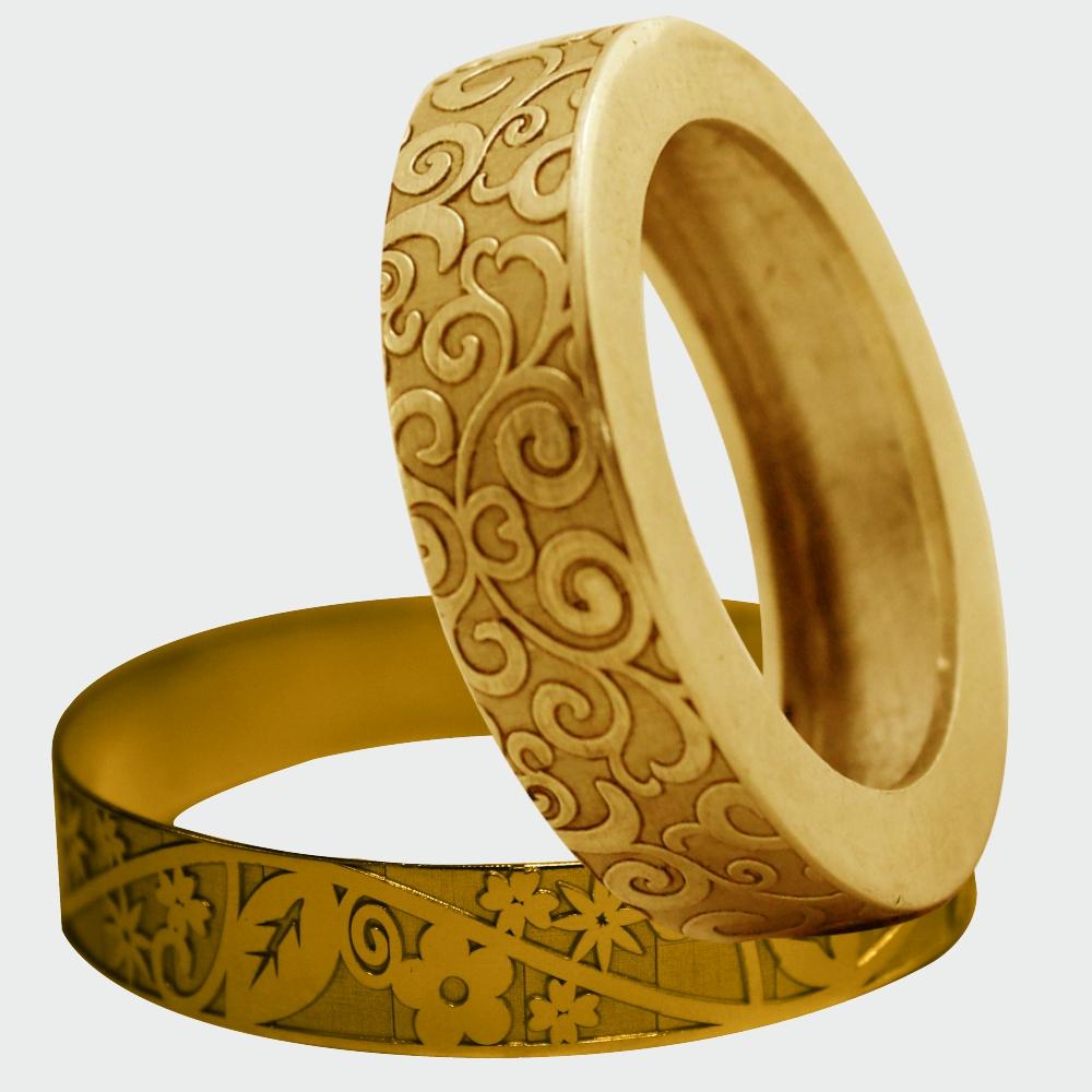 circumferential seamless laser engraving marking on ring & bangle