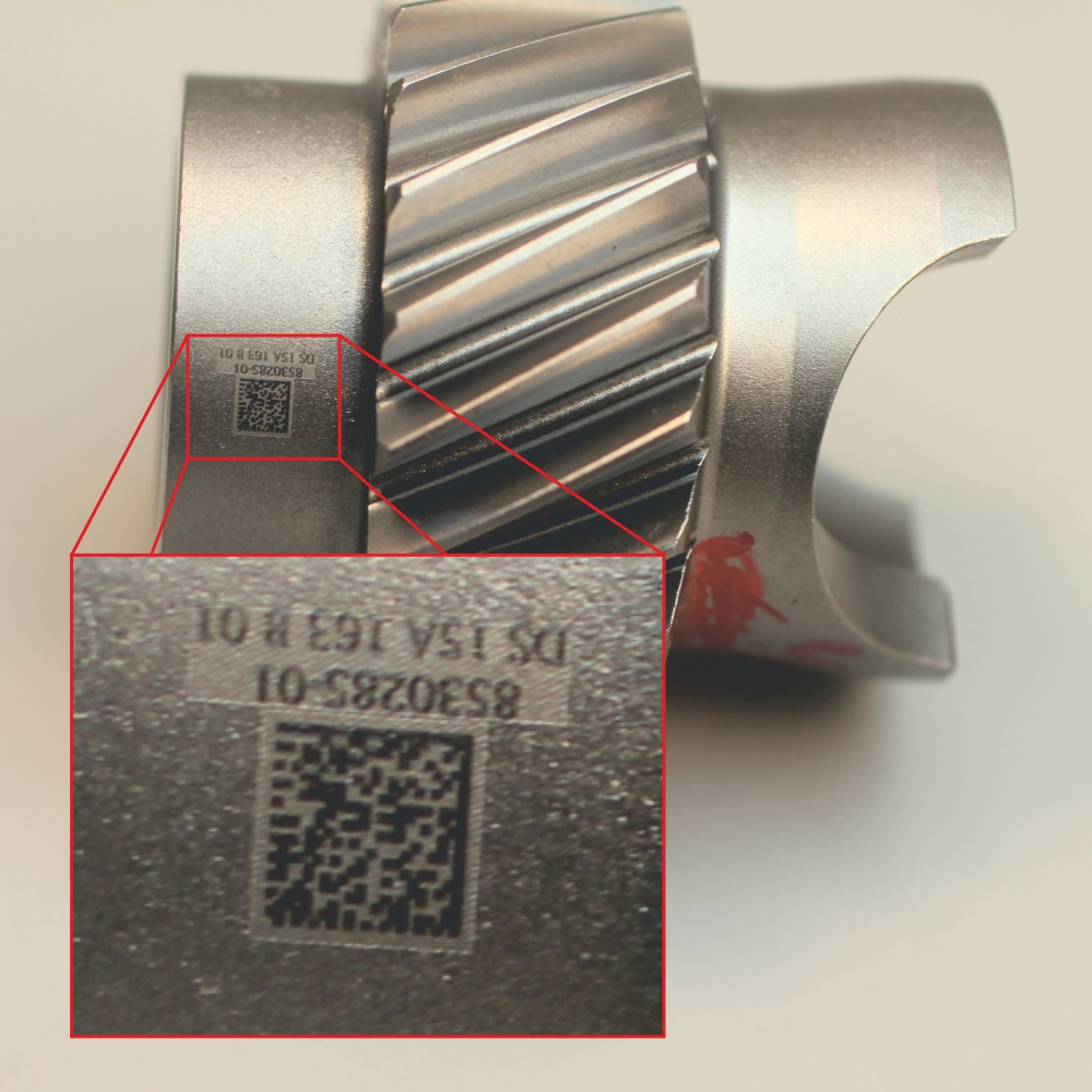 gear assembly Traceability on metal