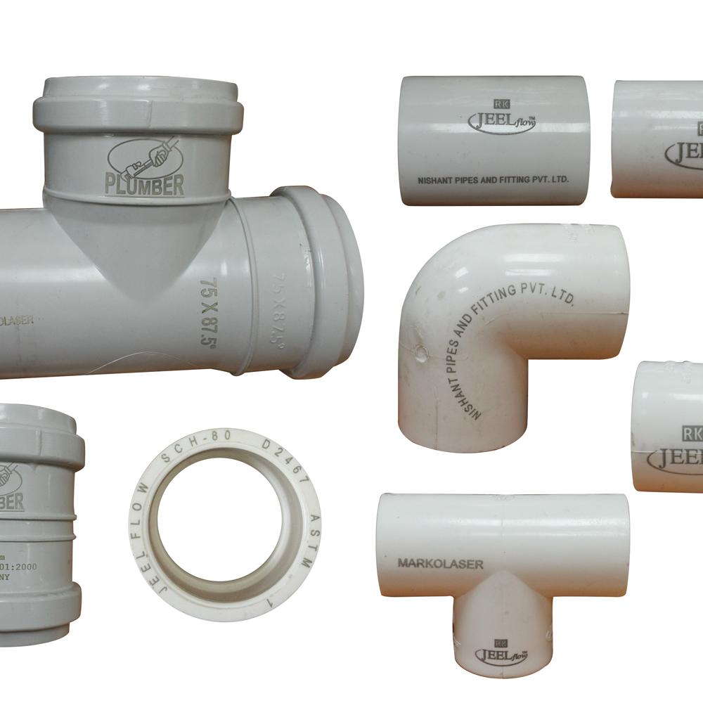 laser marking machine sample pipe