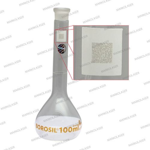 laser marking on medical equipment Pipette, Burete, Flasks, Cylindrical Measurement