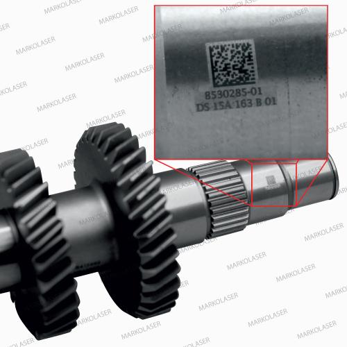 marking of final assembly code on automotive gear assemblies