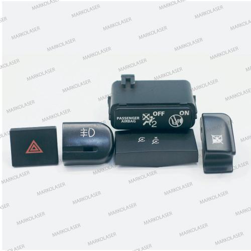 backlit automotive industry fiber laser marking