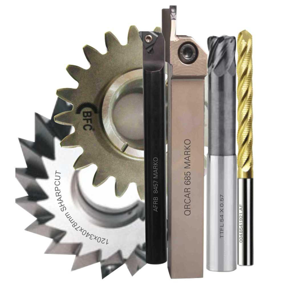 Fiber laser marking on cutting tools
