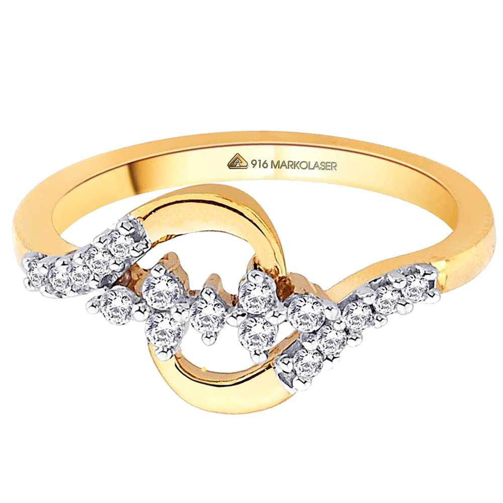 Fiber Laser hallmarking  on gold ring