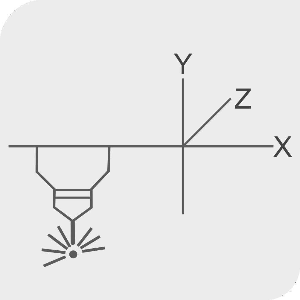 Auto X-Y Laser head