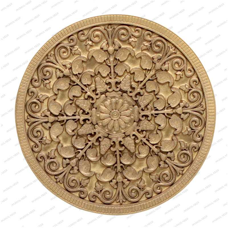 Laser deep engraving coin art Flower