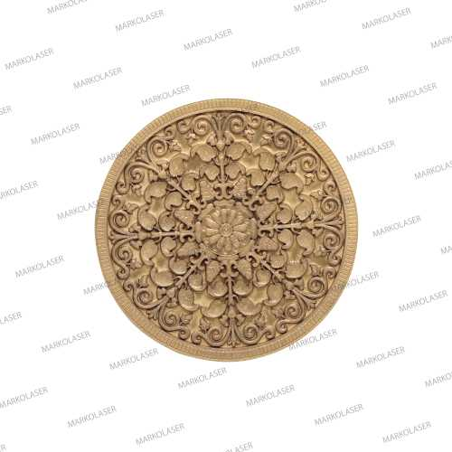 laser coin art laser engraving of flower on 2D coin