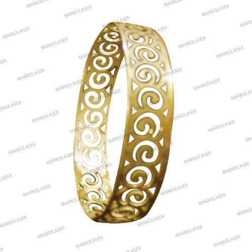 laser cutting on brass bangle
