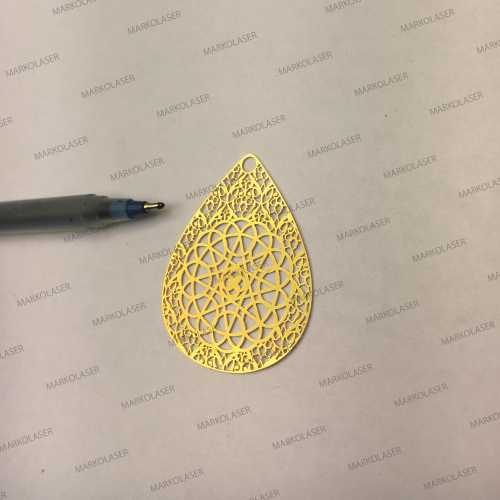 laser cutting on brass beautiful art pendant