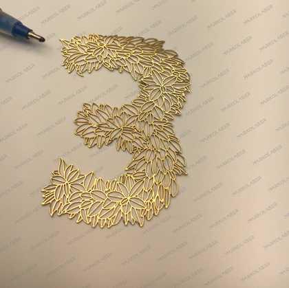laser cutting on brass leaf laser art