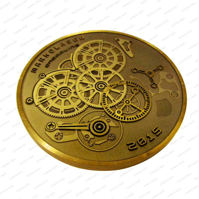laser engraving gears coin