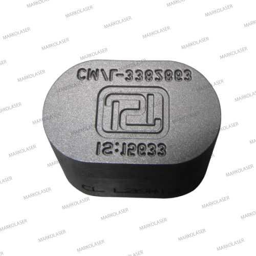 laser engraving on hard cold working steel ISI symbol