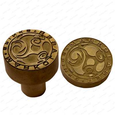laser engraving on metal copper punch die male and female